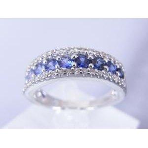早割クーポン! 0.18CTダイヤモンド サファイヤのグラデーションリング(ブルー系), ARKnets:8fc6d6d6 --- frmksale.biz