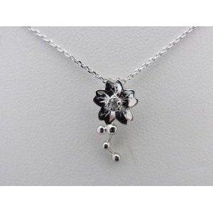高い素材 K18ホワイトゴールド 桜モチーフ 0.03CT ダイヤモンドペンダントネックレス, 木のおもちゃ おっぽろっぽ 1c84ad04