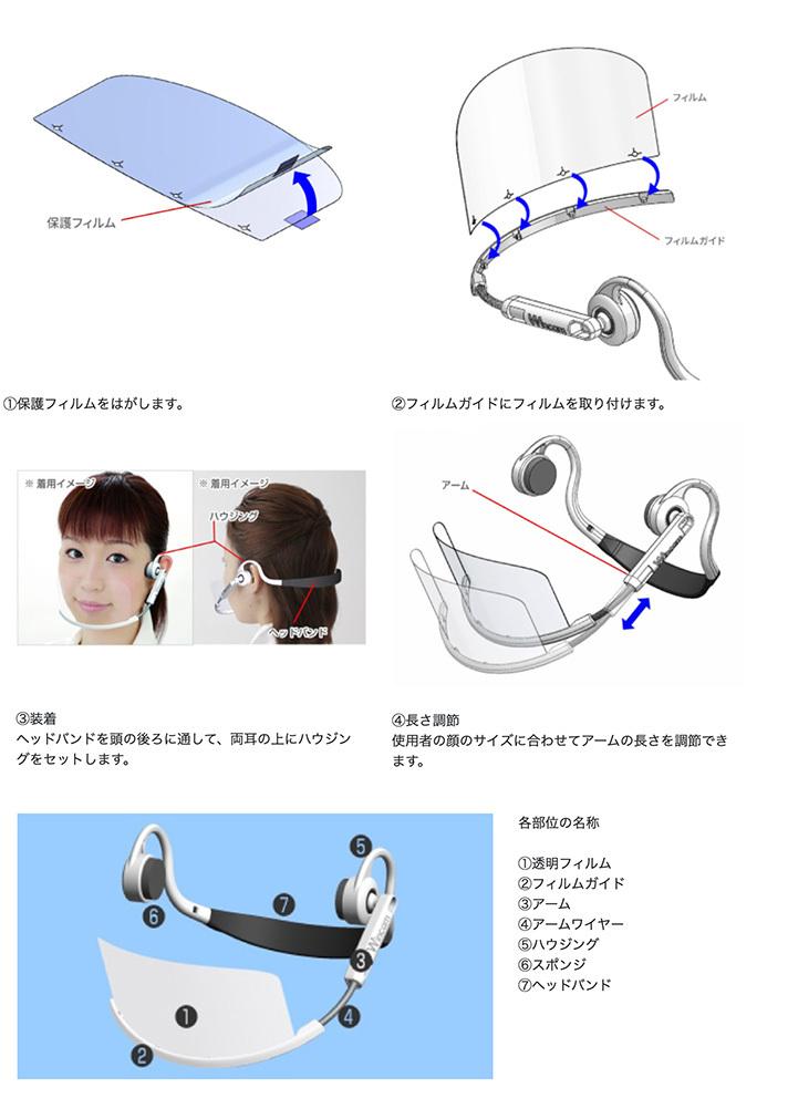 透明マスク Wincam ヘッドセットマスク 特許
