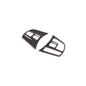 【送料無料】 AL 2個 カーボンファイバー ABS クローム ステアリングホイールボタンフレーム BMW 3 4 シリーズ F30 F32 F33 F34 GT 2014-2018 Carbon Fiber AL-DD-4524, ヒガシマツヤマシ 31e5d3fa