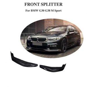 激安通販の AL 車部品 カーボンファイバー フロント バンパー サイド スプリッタ 適用: BMW G30 G31 4ドア セダン エプロン 5 シリーズ 530i 540i 2017 2018 AL-DD-8836, ヤギチョウ a70a821a