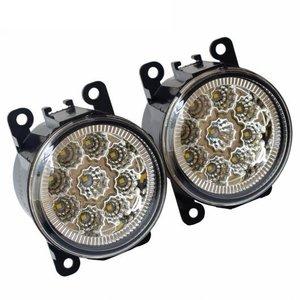 【大放出セール】 AL 90mm ラウンド LED フォグライト 12V DRL フォグランプ 適用: 日産 ナバラ D40 ピックアップ 2005-2015 高輝度 フロント バンパー フォグライト LED (ホワイト)・ハロゲン (ウォーム ホワイト) AL-EE-3415, シタダムラ 3d3e1c90
