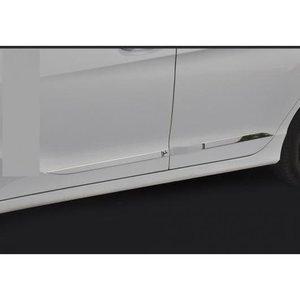 全日本送料無料 AL 適用: ホンダ シティ 2014-2018 クローム ABS ドア サイド ライン ガーニッシュ ボディ カバー プロテクター トリム 装飾 シルバー AL-EE-7210, Scroll Beauty 200ec435