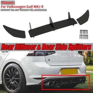 配送員設置 AL MK7 R リア バンパー ディフューザー&リア サイド スプリッター スポイラー ガード カバー トリム プロテクター 適用: VW フォルクスワーゲン/VOLKSWAGEN ゴルフ MK7 R AL-II-3897, ミッカビチョウ 6d474c5f