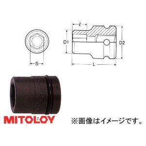 """【気質アップ】 ミトロイ 6角/MITOLOY 1""""(25.4mm) インパクトレンチ用 ソケット(スタンダードタイプ) 6角 85mm P8-85 1"""