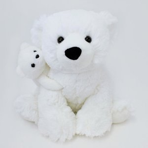 【くま(クマ)のぬいぐるみ】【GUND luxury】ポーラーベア & ベビー