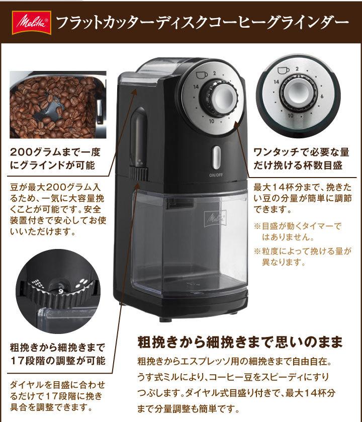 フラットカッターディスクコーヒーグラインダー