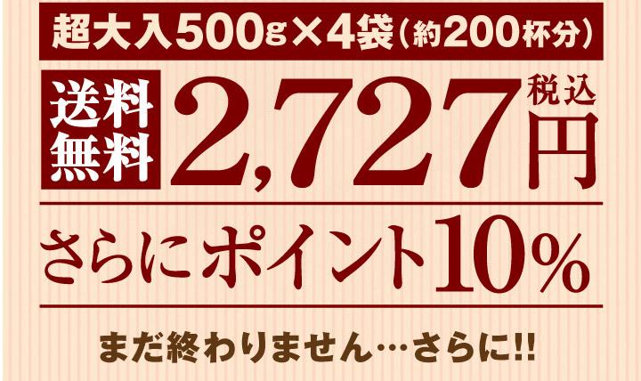 送料無料2727円でさらにポイント10%