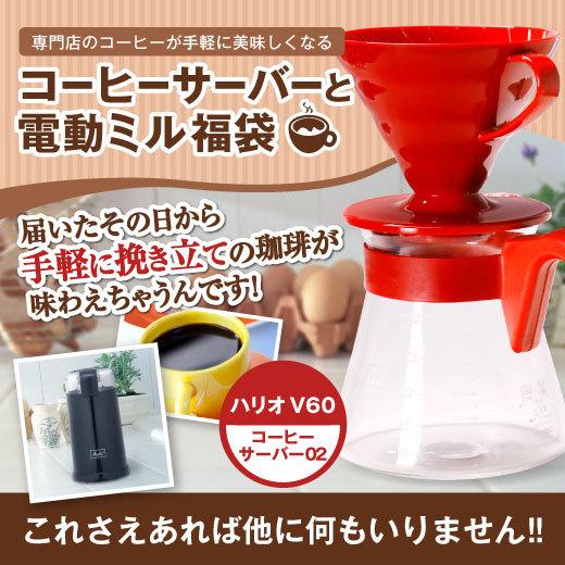 コーヒーサーバーとミルの福袋