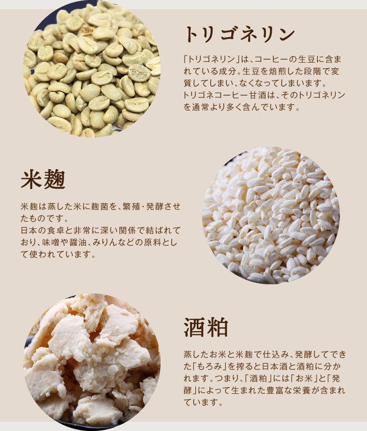 トリゴネリン 米麹 酒粕