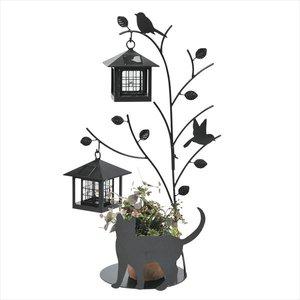 【送料関税無料】 セトクラフト シルエットソーラー 屋外 おしゃれ Tree&Cat 2灯 SI-1956-1300   送料無料 【セトクラフト】犬猫シルエットの愛らしい動きに笑みがこぼれます。, ぶつだんのもり:dcb19c9c --- hospitalesmac.com