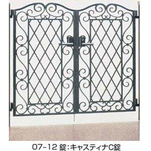 数量限定セール  TOEX イリス門扉B型 75(105)角柱使用 07-14 両開き  シルバー+ブラック 送料無料 【TOEX】花や緑、自然のコーディネートをコンセプトにしたデザインです, DIGIREX:3481af2f --- e-arabic.com