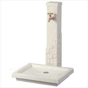 全品送料0円 トーシン 水栓柱 エーゲ SC-AG-IV 立水栓+水栓パン(受け)+蛇口セット アイボリー, サエラショップ cded8c36