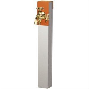 色々な ユニソン リーナアロン 650スタンド ツイン 蛇口(ゴールド)1個セット プレーンフォーセット ツイン付 『立水栓セット(蛇口付き)』  テラコッタオレンジ, i-selection 621327ea