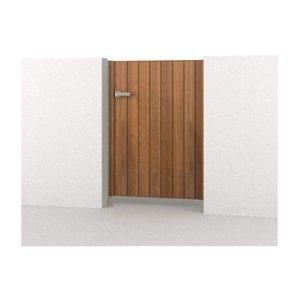 腐らない木調アルミ形材門扉 三協アルミ フレイナ TM型 片開きセット 内開き門柱タイプ 0912 木調タイプ