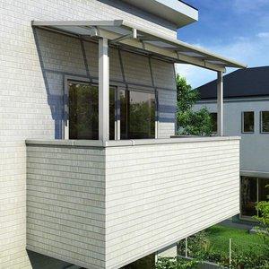 送料無料 YKKAP 躯体式バルコニー屋根 ソラリア Bタイプ 柱奥行移動タイプ 1間×7尺 フラット型 熱線遮断ポリカ屋根 関東間 1500N/m2 中間取付金具セット付  送料無料 【YKKAP】戸建住宅の躯体式バルコニーに屋根を取付けるタイプです。バルコニーの用途が広がります, イル テライオ:b56c615b --- srisaiforestryseeds.com