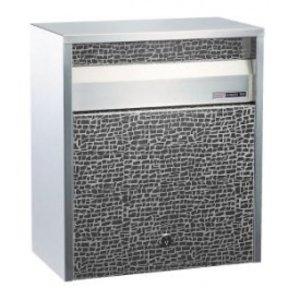【お得】 ハッピー金属 ステンレスポスト ファミール680-ET (壁面埋込&ポール取付タイプ) 『郵便ポスト』 ステンレスエッチング, 家具の東金 b5ccdde4