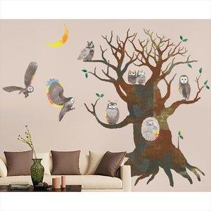 ー品販売  東京ステッカー 高級ウォールステッカー 植物 フクロウの木 Mサイズ 『おしゃれ *TS0007-AM  『おしゃれ かわいい』 『壁 シール』 送料無料 【東京ステッカー】幸せと知恵の象徴であるフクロウのウォールステッカー, 家具のコンシェルジュ:e3840366 --- peter-schrenk.de