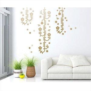 流行に  東京ステッカー 高級ウォールステッカー 植物 植物と昆虫たち Lサイズ *TS0006-FL チャコールグラデーション 『おしゃれ 『おしゃれ かわいい』 『壁 シール』 送料無料 【東京ステッカー】上から垂れ下がる茎が不思議な、花のデザイン, ソーラーショップ光緑:b5625e7b --- blog.buypower.ng