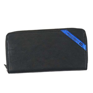 優れた品質 ディーゼル DIESEL 財布 X03609 P1221 H6169 24 ZIP ラウンドファスナー長財布 メンズ レザー BLACK/COBALTO ブラック+コバルトブルー, ハッピーグッズコレクション 81db0650