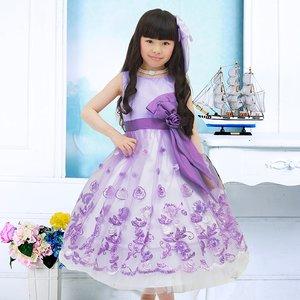 3e54a971fd119 子供ドレス ゴージャスパープル 七五三 お値打ち 高品質 超... ファーストレディ ポンパレモール
