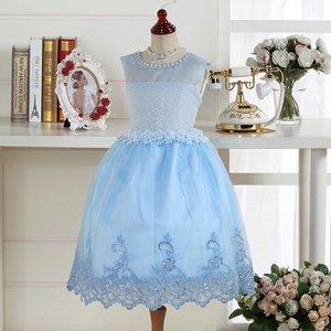 c47d0895b349e 子供ドレス ブルーレースクイーン キッズドレス プリンセス ... ファーストレディ ポンパレモール