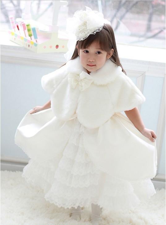 子供用ケープ(白) マント キッズ コート キッズ防寒 ベビー 子供ドレス