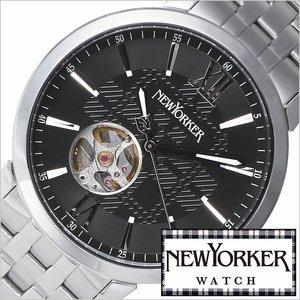 期間限定特別価格 送料無料 [即納]ニューヨーカー腕時計 NEWYORKER時計 自動巻き腕時計 自動巻き時計 自動巻き 腕時計 時計 機械式腕時計 機械式 NEW YORKER ニューヨーカー トラッドマン 2 Tradman 2 メンズ/ブラック NY001-03[オープンハート クラシック ルイ15世リューズ][防水][10倍], 蒟蒻麺.寒天ゼリー ミライフィット c5495026