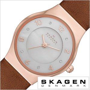 【再入荷!】 送料無料 スカーゲン スカーゲン 腕時計[ 送料無料 SKAGEN 時計 Grenen ]スカーゲン 時計[ SKAGEN 腕時計 ]スカーゲン腕時計[ SKAGEN時計 ]グレーネン Grenen レディース/ホワイト SKW2210 [人気/新作/ブランド/防水/革 ベルト/レザー/シンプル/クリスタル/ブラウン/ピンク ゴールド/北欧/プレゼント] [送料無料!!], 激安ランジェリーshop Lアール:345dd8e3 --- abizad.eu.org