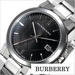 超美品の 送料無料 [即納]バーバリー 腕時計 メンズ 男性 [ BURBERRY ] 時計 シティ ( The City ) ブラック/BU9001 [おすすめ/ブランド/プレゼント/ギフト/おしゃれ/オシャレ/メタル ベルト/シルバー], Galaxy Gallery d9fdf11d