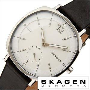 【超新作】 スカーゲン 腕時計 [ SKAGEN 時計 ] ラングステッド [ Rungsted ] メンズ レディース ホワイト SKW2403 [ 人気 ブランド 防水 薄型 革 レザー ベルト ブラック シルバー シンプル 北欧 ], Maqua-store b0b01429