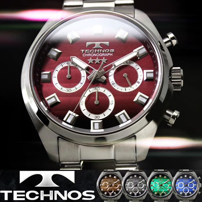 631bbe2bde43 メンズ 腕時計 クロノグラフ 時計 ブランド TECHNOS...|HAPIAN【ポンパレモール】