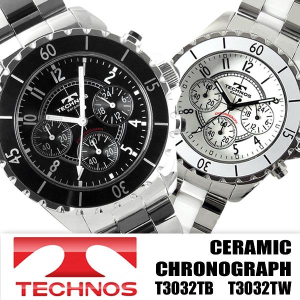 cad374390400 テクノス 腕時計 メンズ メンズ腕時計 クロノグラフ ブランド TECHNOS T3032TB T3032TW スイスの老舗人気ブランド「TECHNOS (テクノス)」製、クロノグラフ腕時計です。