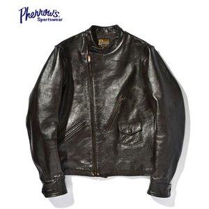 日本未入荷 PHEROW'S フェローズ 茶芯|ホースハイド|ライダース|モーターサイクルジャケット『LEATHER MOTORCYCLE JACKET』【アメカジ・ライダース】GX72(Leather jacket), チハヤアカサカムラ 1a8ac1b7