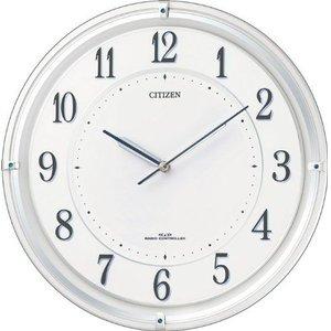 【時間指定不可】 【送料無料】シチズン 電波掛け時計 サイレントソーラーM817 4MY817-003, アンティーク雑貨 CHEERFUL a20f98d6