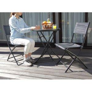 人気アイテム 折りたたみガーデンテーブルセット 3点セット(ガラステーブル+ガーデンチェア2脚) チェアブラック【】 折りたたんで省スペース、カラフルなガーデン家具3点セット。, 餅と和洋菓子の店いしや:49cf1c36 --- blog.buypower.ng