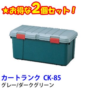【送料無料】☆お得な2個セット☆カートランク CK-85 グレー/ダークグリーン アイリスオーヤマ