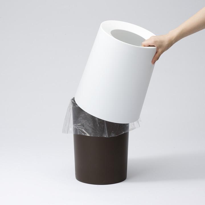 【ゴミ箱おしゃれ分別ごみ箱見えないダストボックスイデアコ【B】TUBELORHOMMEideaco】