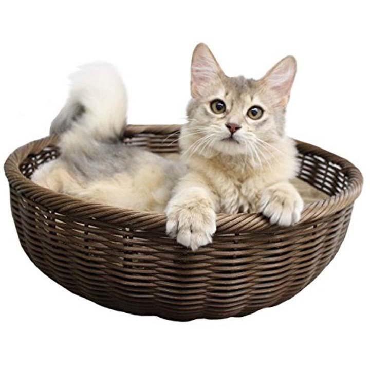 ペットベッド夏用犬用猫用おしゃれペットプロ手編みラウンドベッドペットプロジャパン