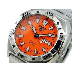 最安値挑戦! セイコー ファイブ SEIKO 5 スポーツ SPORTS 自動巻き 腕時計 SRP283J1 オレンジ, クレセント(輸入家具&雑貨) d24063f1