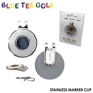 【ネコポス対応】ブルーティーゴルフステンレスマーカークリップ台座BLUE TEE GOLF