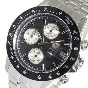 有名ブランド 【送料無料】 エルジン ELGIN クロノ クオーツ メンズ 腕時計 FK1408S-BN ブラック ブラック, 装美 呉服おかの 03219e74