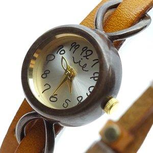 超爆安 【送料無料】 ヴィー VIE 腕時計 レディース WB-067 VIE 腕時計 WL-005-MIKANN ハンドメイドウォッチ WB-067 クォーツ シルバー ライトブラウン, 那須郡:e2baa480 --- cartblinds.com