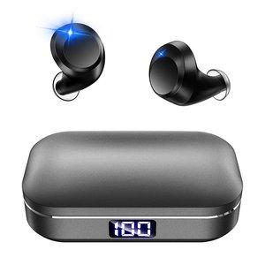 開店記念セール! 【最新 イヤホン Bluetooth5.0 LEDディスプレイ】 Bluetooth イヤホン マイク内蔵 Hi-Fi 高音質 高音質 ワイヤレス イヤホン IPX7完全防水 3Dステレオサウンド CVC8.0ノイズキャンセリング AAC/SBC対応 自動ペアリング 充電式収納ケース付き マイク内蔵 Siri対応 iPhone/iPad/Android適用 (グレー), オフィス家具のオフィスパートナー:23397dd4 --- danger.teamab.de