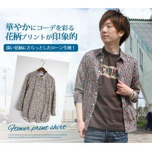 超美品の SLICK(スリック)ローン生地フラワーシャツ(slick-5167420)【メンズ】送料無料/花柄/長袖/日本製/パイピング/コットン 爽やかで優しい雰囲気。総柄フラワープリントがシャツのイメージをカジュアルダウンしてくれる。/slick スリック/slick ジャケット/slick パーカ, PENNE ペンネ:74d8f0c8 --- dpu.kalbarprov.go.id