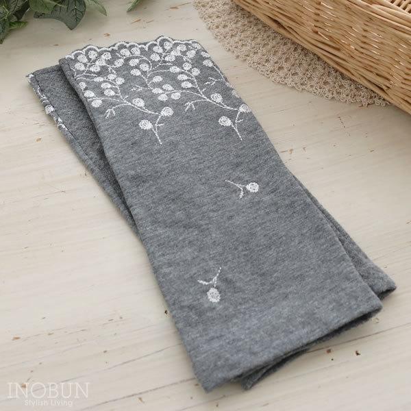 ショート 花刺繍 UVケア UVグローブ(手袋)