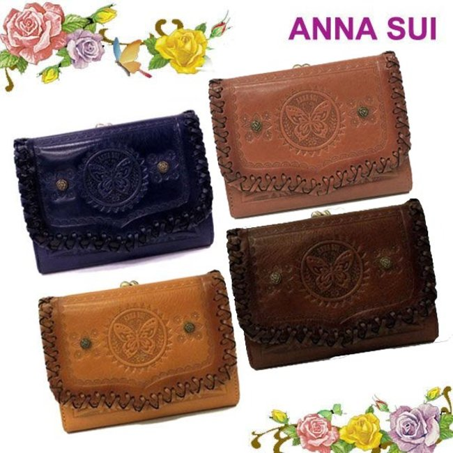 on sale 6f413 d2823 アナスイ ANNA SUI 財布 長財布 バッグ さいふ サイフ 二つ折り フリーダ がま口 三つ折り財布 全4色 2012 ブランド 新作