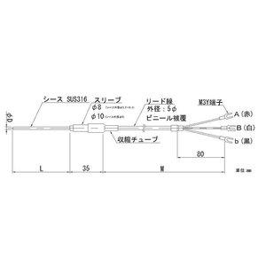 【半額】 【個数:1個】日本電測 [RN1-8-10-4M] リード線形シース白金測温抵抗体 RN18104M, クリーンテクニカ 03f49194