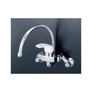【正規品】 KVK [KM5000SS] スワンパイプ シングル混合栓, 西田さんご商 c7e05529