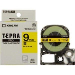 有名なブランド 2147345065801 キングジム PROテープ SC9Y-20P 黄に黒字 9mm 20個, 南郷町 91c63607